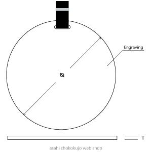 丸型ネームプレートの図面