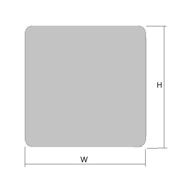 L型アクリルプレートの図面